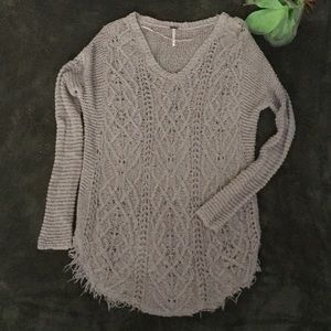 Free People Cable Knit Tunic Sweater